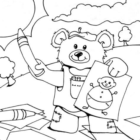 Asyiknya Menggambar Mewarnai Bunga mewarnai teddy kelompok bermain alia