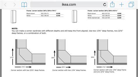 Ikea Pax Wardrobe Dimensions - ikea pax corner unit measurements bedroom