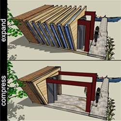 New space saving design expand contract shelter