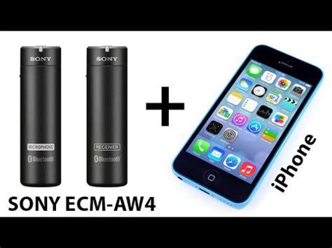 Sony Ecm Aw4 sony ecm aw4 how to use with iphone