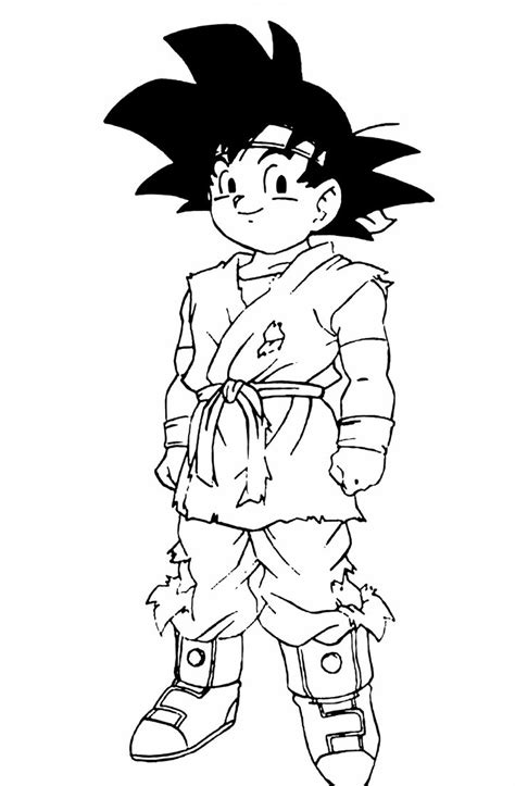 dragon ball gt coloring pages goku goku jr dragon ball gt by turunksun on deviantart