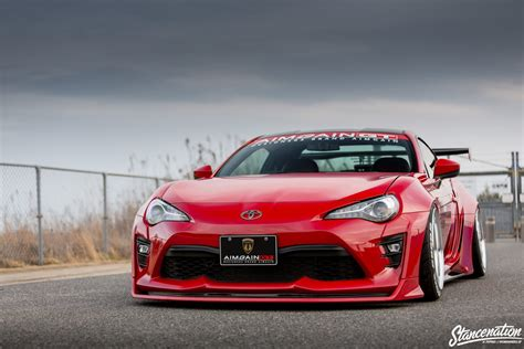 subaru brz stance stancenation x aimgain type 2 collaboration aero toyota