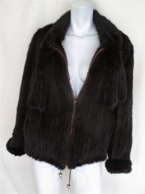 mink knitted jackets exclusive knitted mink fur jacket for sale at 1stdibs