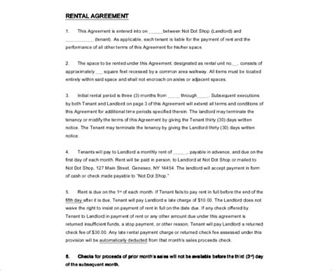 Lease Notice Sle Rental Agreement Template Free Pdf Word Documents Creative Template