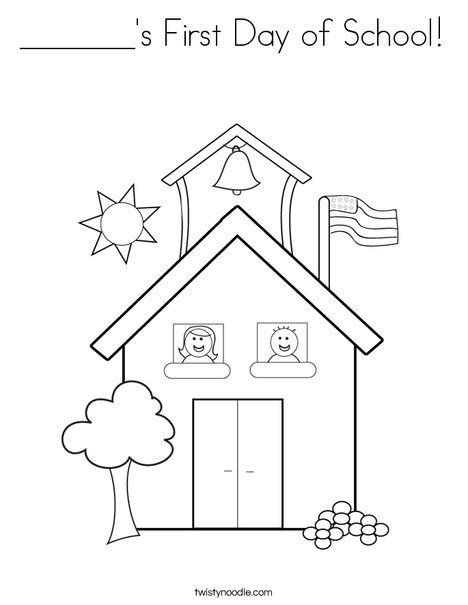 S First Day Of School Coloring Page Twisty Noodle Day Of School Coloring Pages