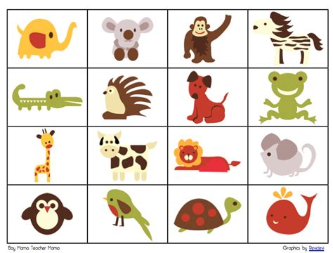 animal card template boy free retro animal bingo boy