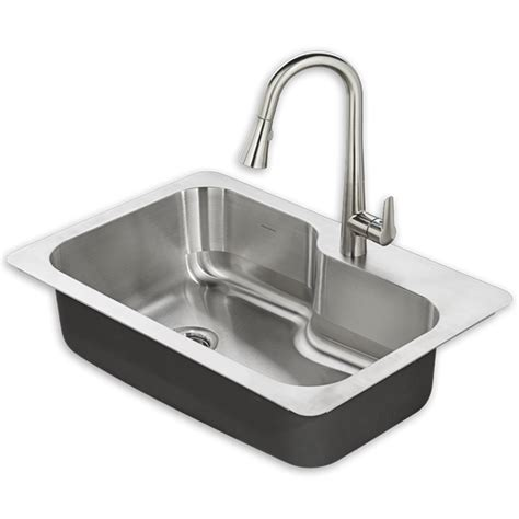 Designer Kitchen Sinks Stainless Steel raleigh 33x22 kitchen sink kit american standard