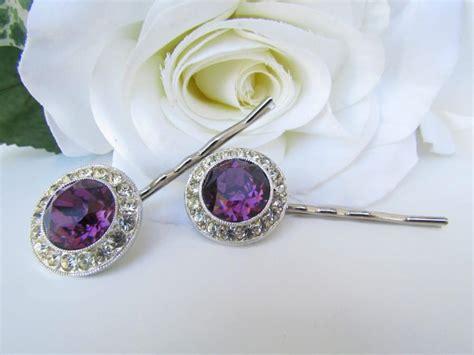 Wedding Hair Accessories Purple by Purple Bridal Hair Comb Purple Bridal Hair Pins Purple