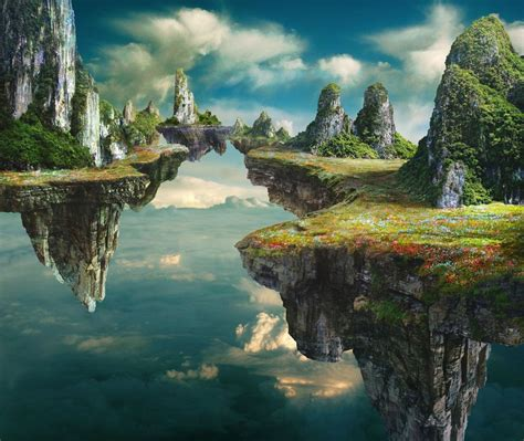 The Floating Island floating islands inspiration artwork by tim matney
