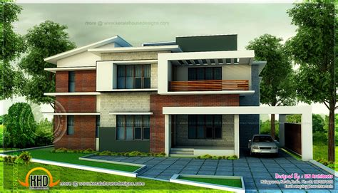 modern 5 bedroom house plans 5 bedroom modern home in 3440 sq feet floor plan included kerala home design and