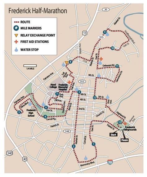 maryland map frederick frederick half marathon 2016 2017 date registration