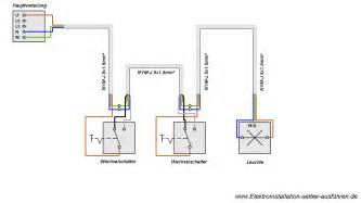 schaltplan wechselschalter mit 2 len schaltplan einer wechselschaltung elektroinstallation