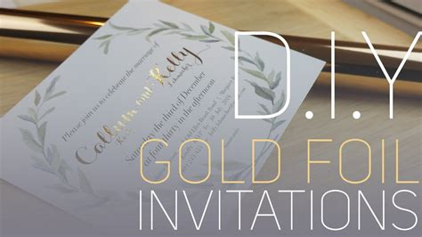 foil sted wedding invites d i y gold foil invitations