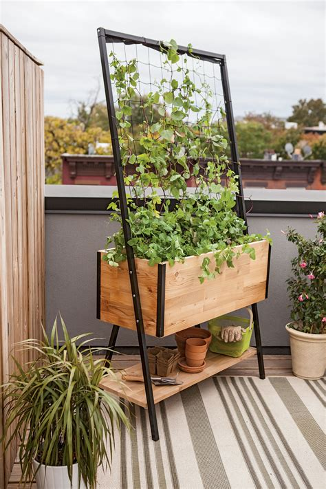 Free Standing Planter Boxes by Planter Boxes Standing Height Cedar Raised Garden