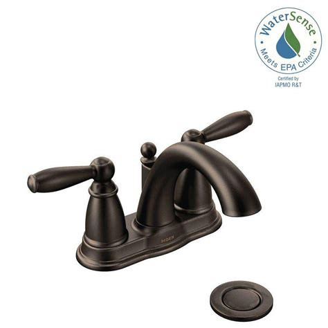 Chagne Bronze Bathroom Faucet moen brantford 4 in centerset 2 handle low arc bathroom