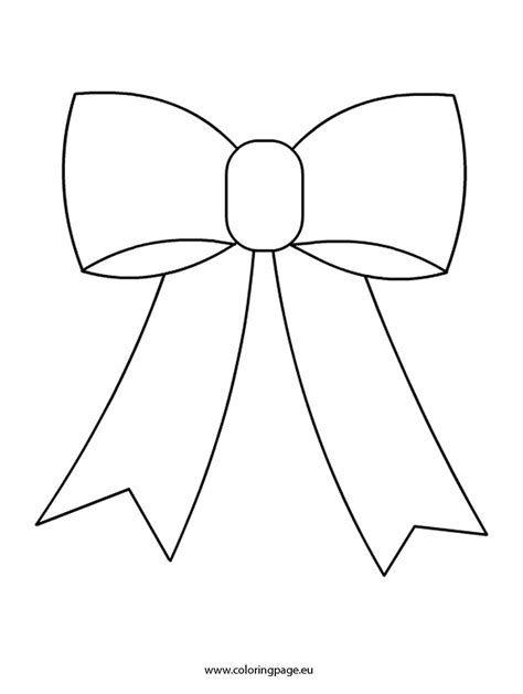 bow template bow coloring page