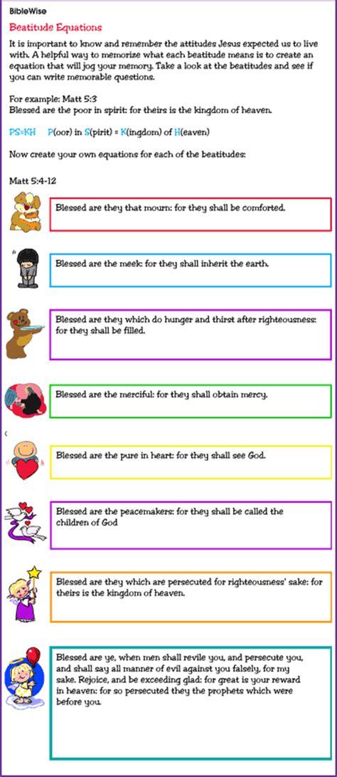 Activity to Help Children Memorize the Beatitudes   Kids