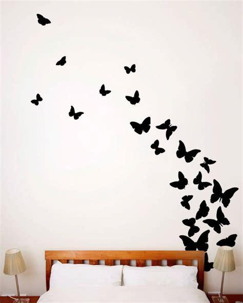 Wallpaper Sticker Motif And Black Line Ukuran 45 Cm X 10 Meter 1 butterflies midnight wall decal designyourwall