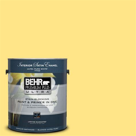 home depot behr paint yellow behr premium plus ultra 1 gal 380b 4 daffodil yellow
