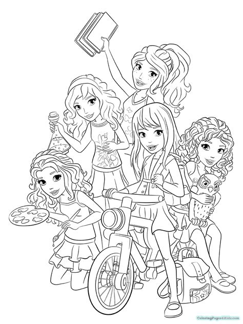 lego and friends coloring pages lego friends coloring pages and girls and livi coloring