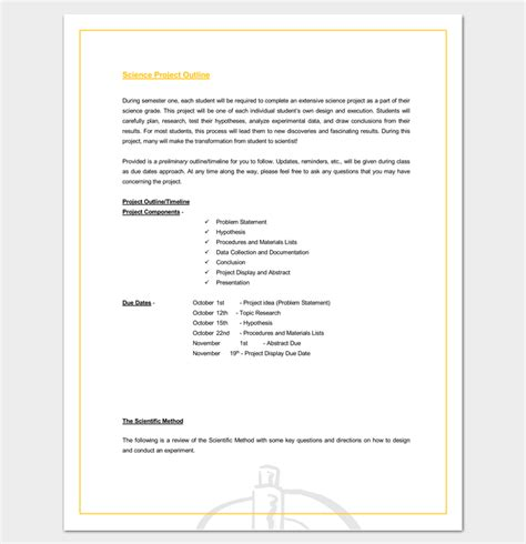 Project Outline Template Word by Project Outline Template 17 For Word Ppt Excel And