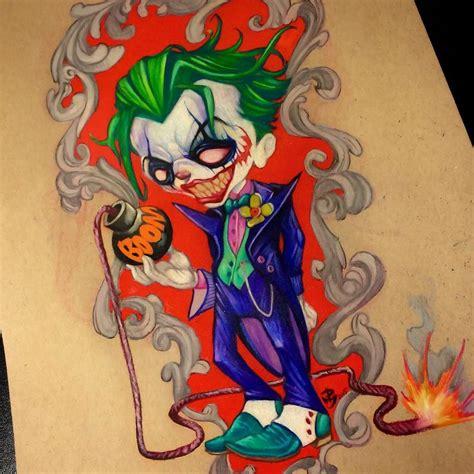 tattoo old school joker joker by picasso dular tattoonow