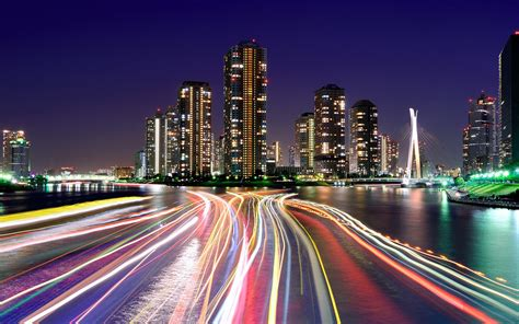 City Lights Wallpaper by City Lights Tokyo Wallpaper Wallpup