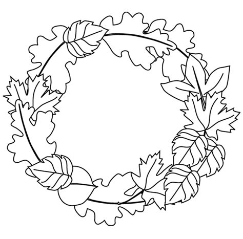 fall wreath coloring page free printable coloring pages