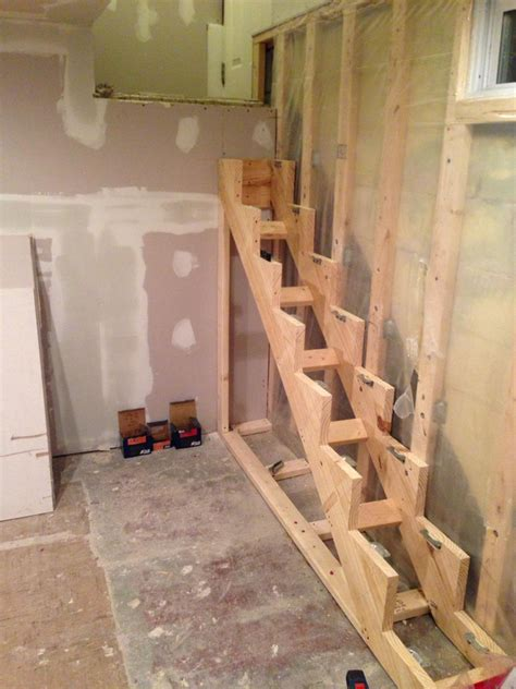 how to make floating stair supports handy father