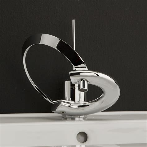 modern bathroom faucets with curved levers embrace