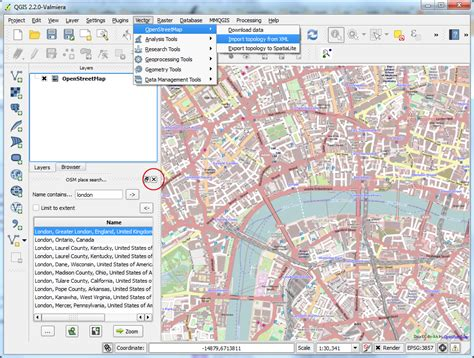 qgis spatialite tutorial buscando y descargando datos de openstreetmap qgis