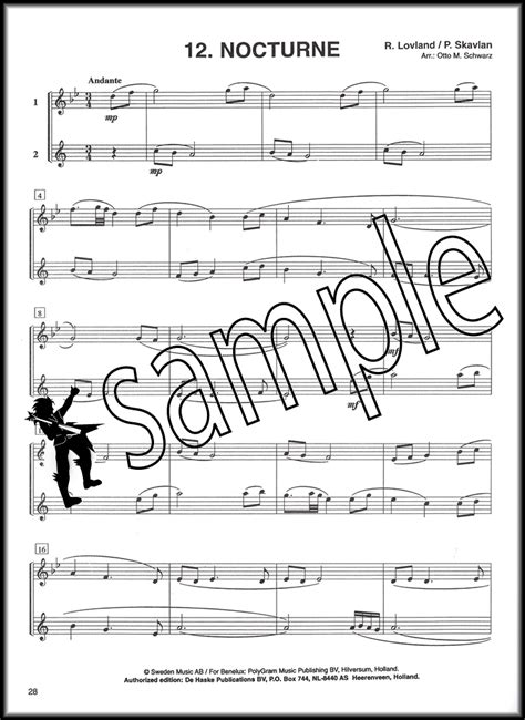 shavlan books pop go 12 duets for flute clarinet sheet book