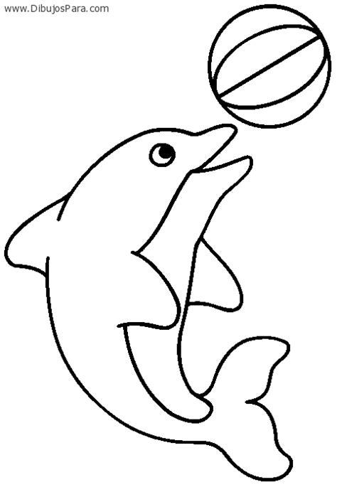 dibujos para pintar kinder dibujo de delfin jugando para colorear dibujos de