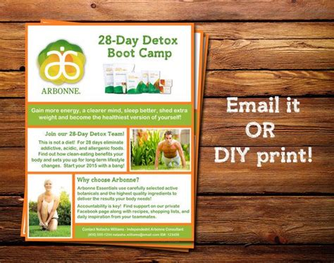 Arbonne 28 Day Detox Diet Recipes by Arbonne 28 Day Detox Boot C Flyer With By