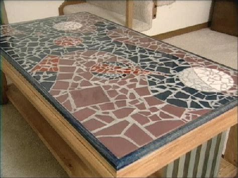 How To Make Handmade Tiles - how to make a mosaic tile table design hgtv