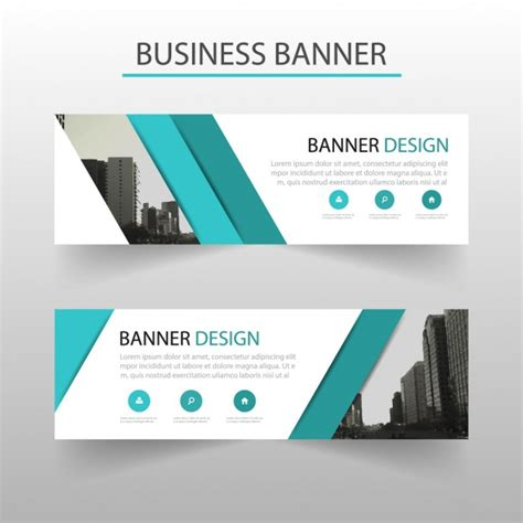 banner design editor modern banner with turquoise geometric shapes vector