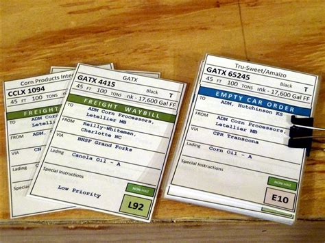 model railroad car card template paperwork on the bnml model railroad hobbyist magazine