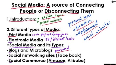 good thesis about social media essay outline social media part 1 youtube