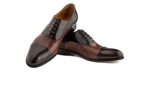 capped oxford shoe cap toe oxford shoes in brown brown antique italian leather