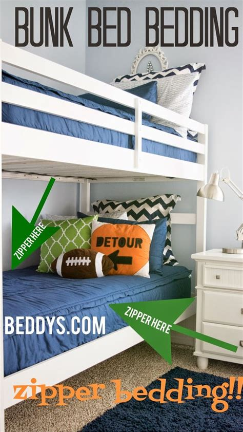 easy to make bunk beds boys navy blue bunk bed bedding zippers make it easy to