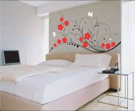 Bedroom wall paint designs with black gloss painting room walls ideas