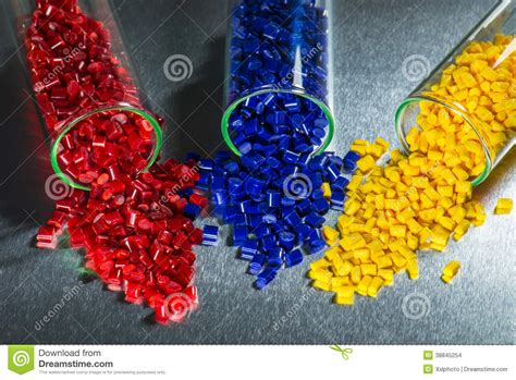Acrylic Resin dyed plastic resins stock photo image 38845254