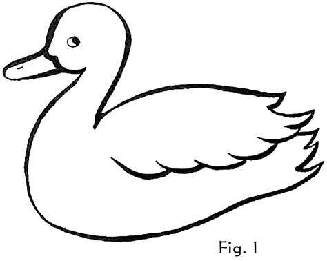 duck coloring pages easy drawn duck easy pencil and in color drawn duck easy