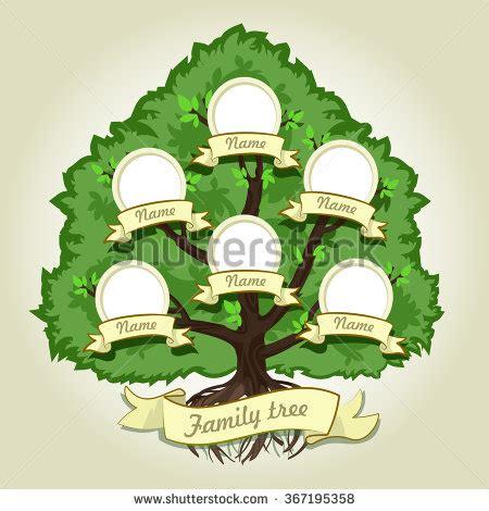 Genealogical Family Tree On Gray Background Stock Vector 367195358 Shutterstock Vintage Genealogical Family Tree Sketch Vector Illustration Stock Vector
