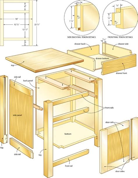 bedside table woodworking plans table plans stands and bedside tables on