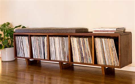 Record Shelf Plans by Cool Vinyl Record Storage Ideas Home Tweaks