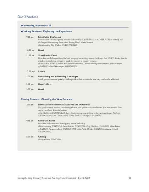 event brief template usaid s experience summit event brief