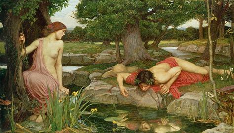 Narcissus Painting echo and narcissus painting by william waterhouse