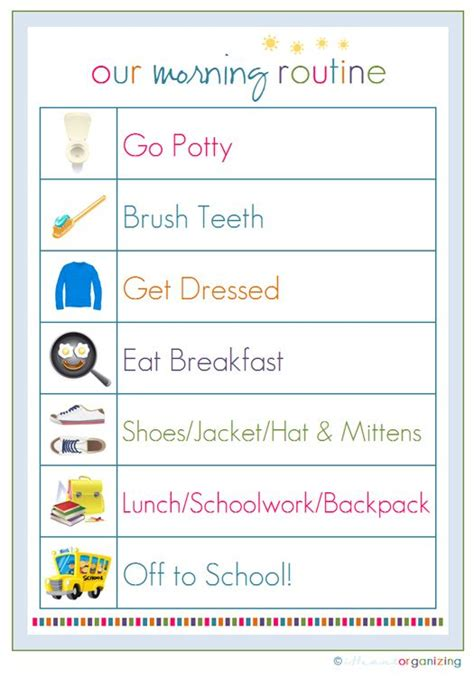 bathroom routine printables with two children in school i need to have a plan
