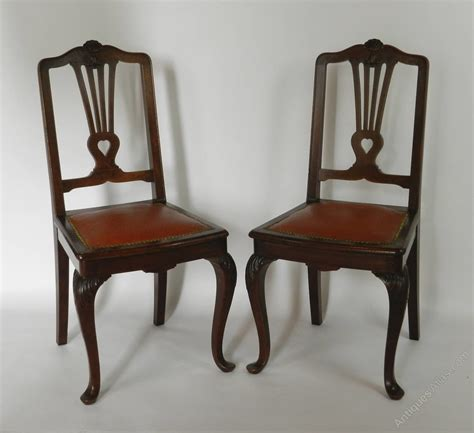 antique mahogany side chairs pair of mahogany side chairs antiques atlas